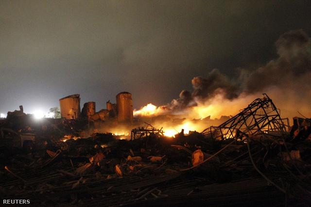A texasi robbanás helyszíne
