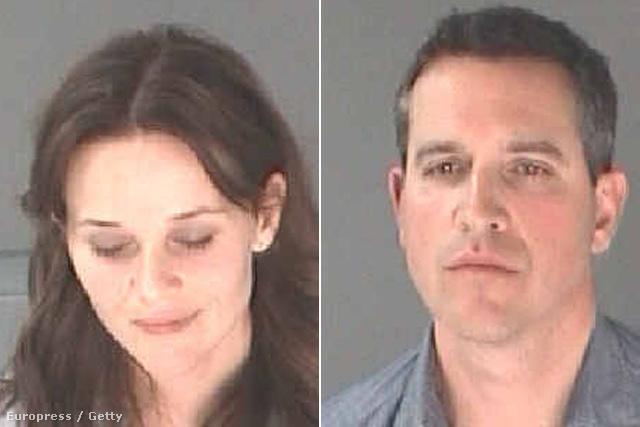 Reese Witherspoon és férje a rendőrségi felvételeken