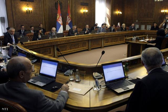 Szerb kormányülés Belgrádban