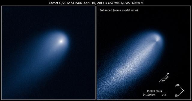 A Hubble felvételei az üstökösről