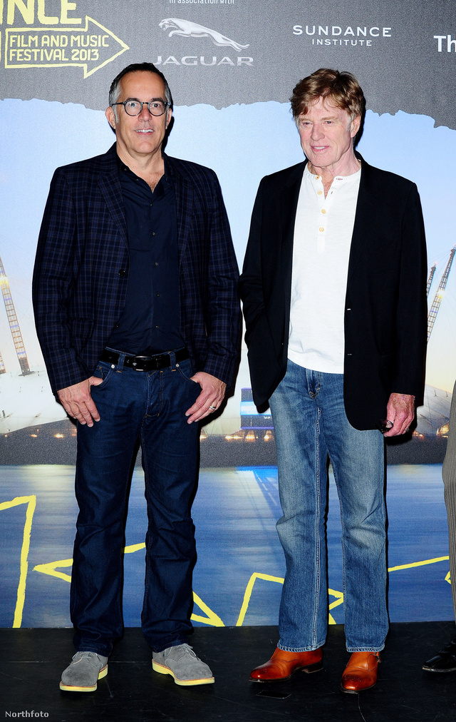Balra John Cooper, jobbra Robert Redford