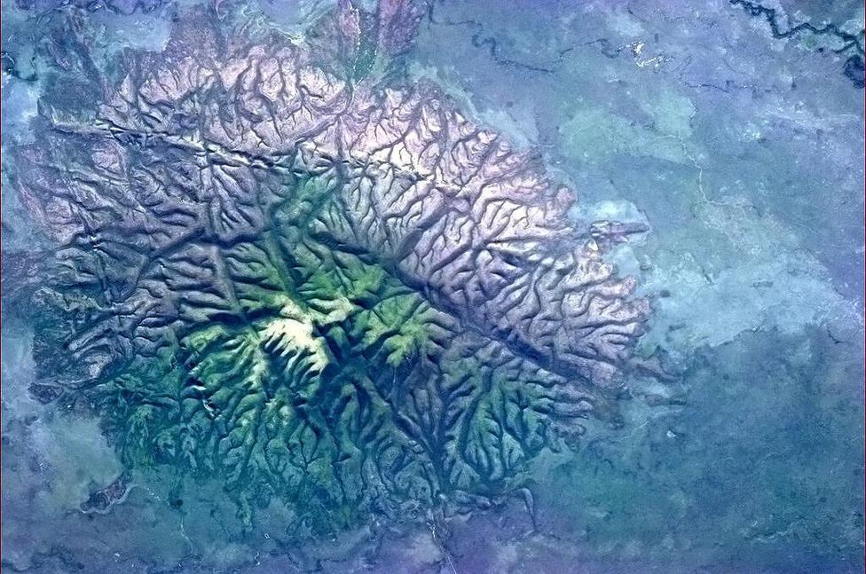 Hadfieldnek fogalma sincs, mi lehet ez a brazil képződmény, de az űrből agynak látszik