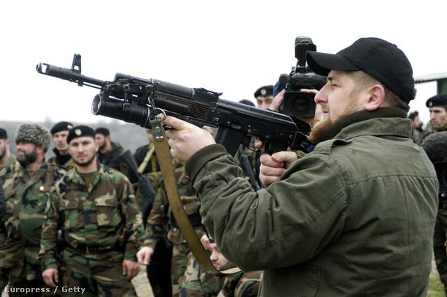 Ramzan Kadirov csecsen miniszterelnök szülőfalujában