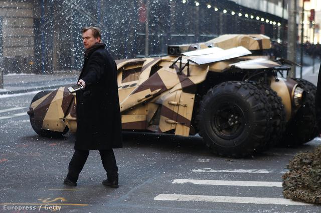 Christopher Nolan a Batman forgatásán