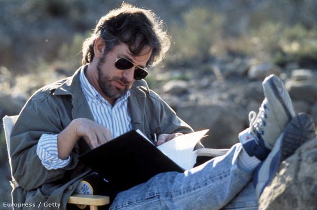 Spielberg az Indiana Jones és az utolsó kereszteslovag forgatásán