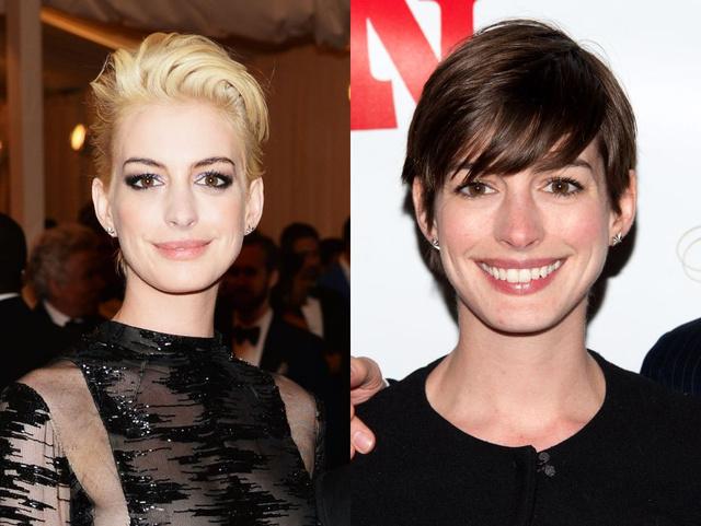 Az est egyik legnagyobb meglepetése a szőke hajat villantó Anne Hathaway volt.