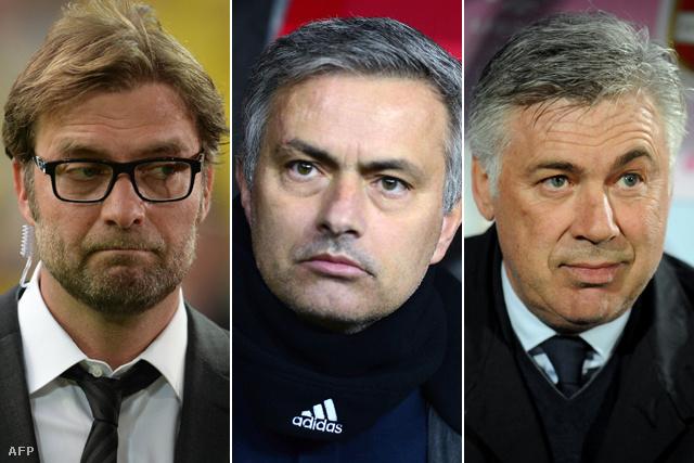 Klopp, Mourinho és Ancelotti