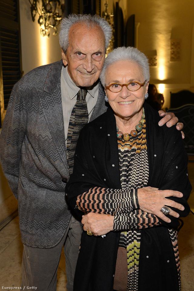 Ottavio Missoni és felesége, Rosita Missoni