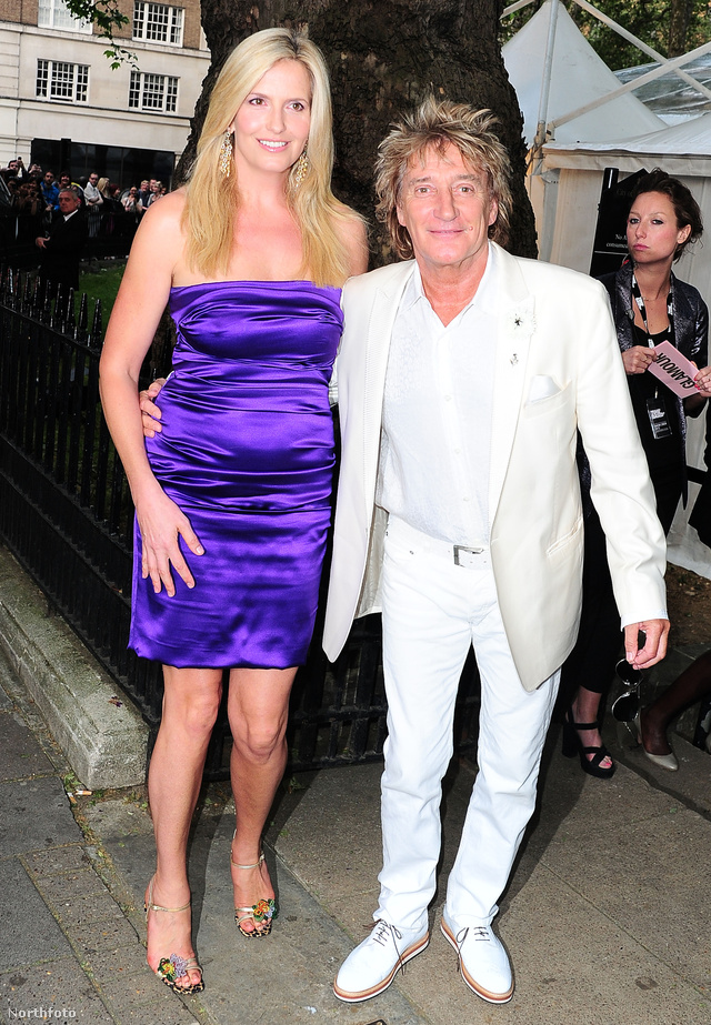 Penny Lancaster és Rod Stewart.