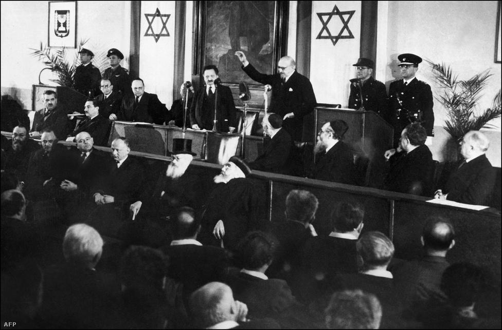 1949. február 17-én letette esküjét Chaim Weizmann, Izrael első elnöke. Izrael 1949. május 11-én az ENSZ tagállama lett.