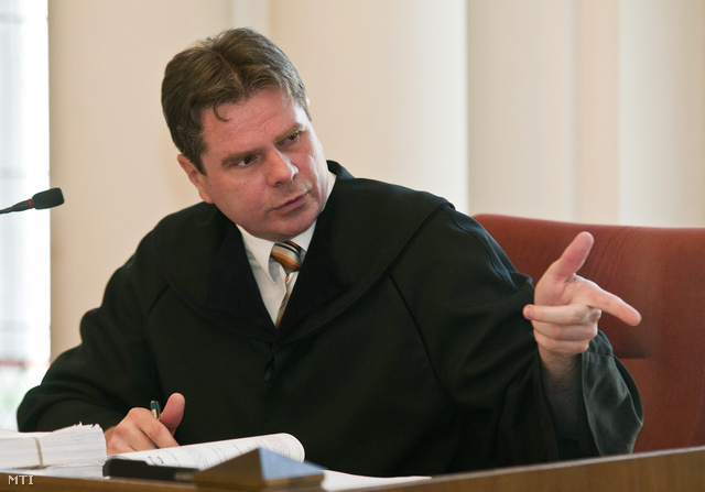 Az ügyet tárgyaló Németh Csaba bíró.