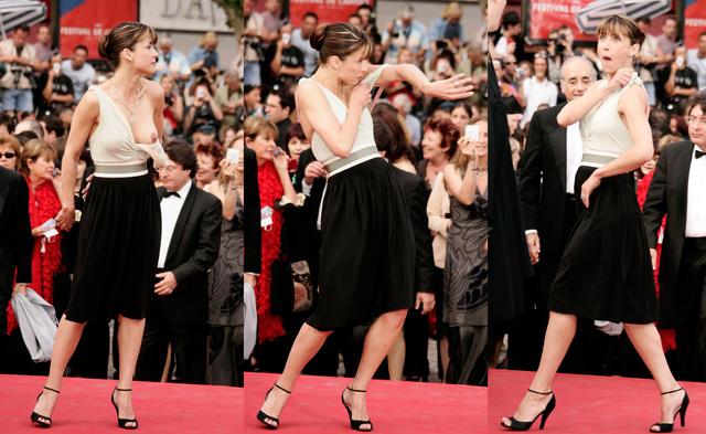 Ezt se felejtjük el sosem: Sophie Marceau-t 2005-ben ruházati baleset érte, villant ott minden.