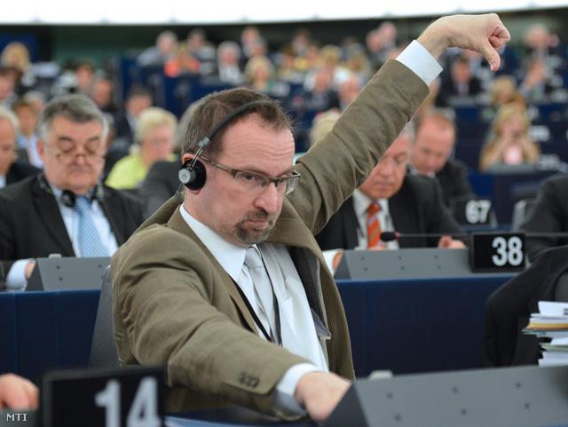 Szájer József az Európai Parlament plenáris ülésén, 2013. április 17-én