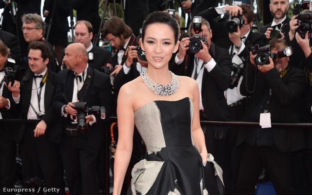 Zhang Ziyi a The Bling Ring című film premierjén Cannes-ban