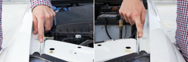 Az ujjam végét nézzék. Az autó bal első sárvédője egészen más hézaggal kerül fel, vagy vissza a helyére, mint a jobb oldali