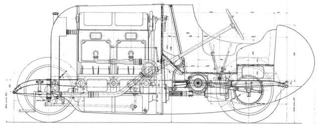 A FIAT tipo S.76                          eredeti metszeti rajza