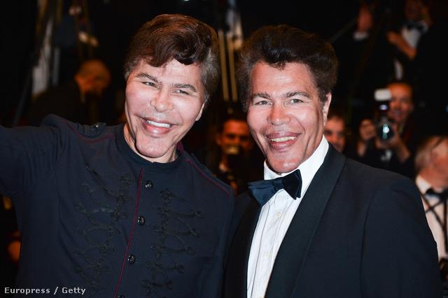 Igor és Grichka Bogdanoff idén május 24-én, Cannes-ban, a Kolhaas Mihály bemutatóján.