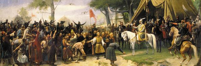 Árpád vezér Munkácsy Mihály Honfoglalás című festményén