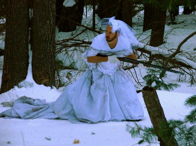 Terepszínű öltözék téli vadászathoz