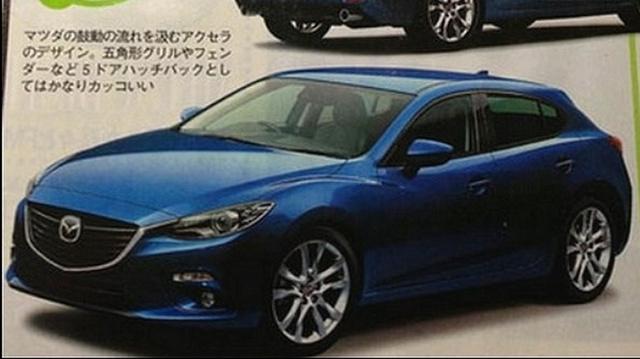Az autó szemből, a japán újságban megjelent képen