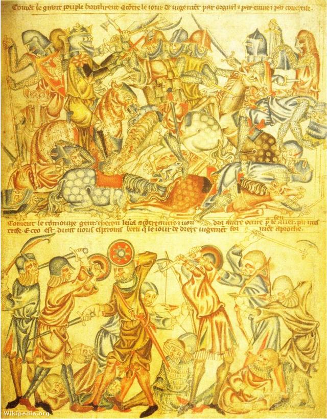 A csata 14. századi ábrázolása