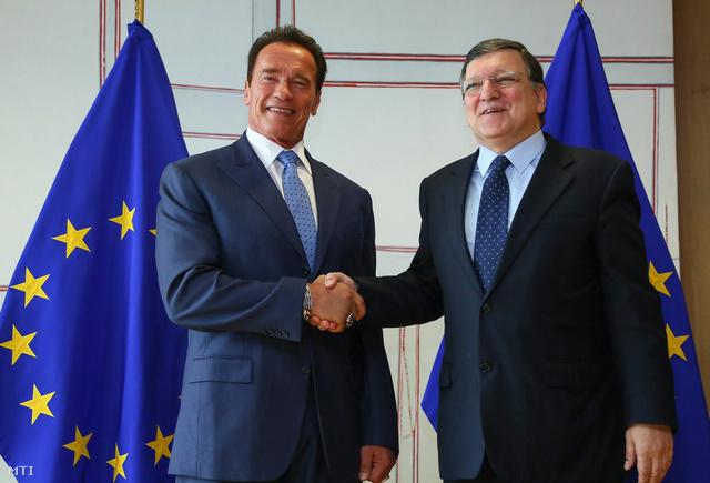 Schwarzenegger és Barroso