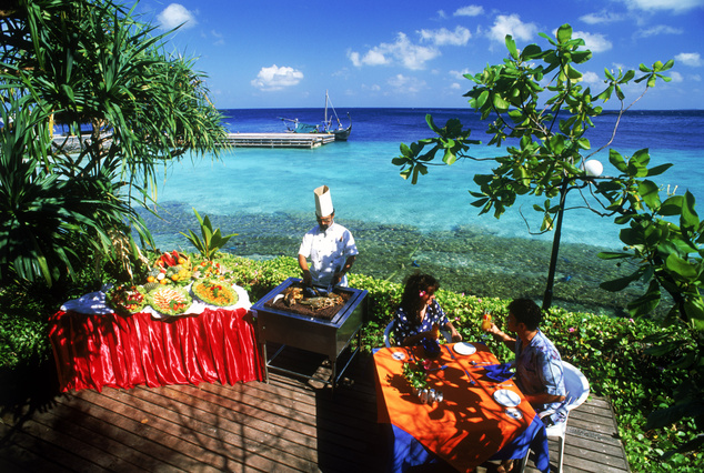 Maldív szigetek: trópusi ebéd