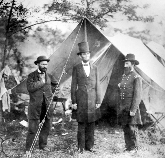 Lincoln a frontvonalra látogat a polgárháború alatt