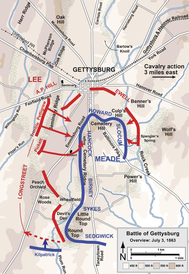 A csata harmadik napjának térképe