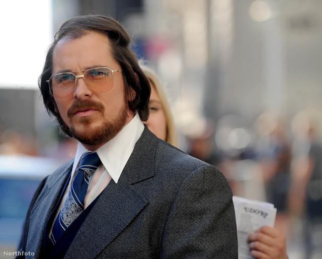 Christian Bale az American Hustle forgatásán