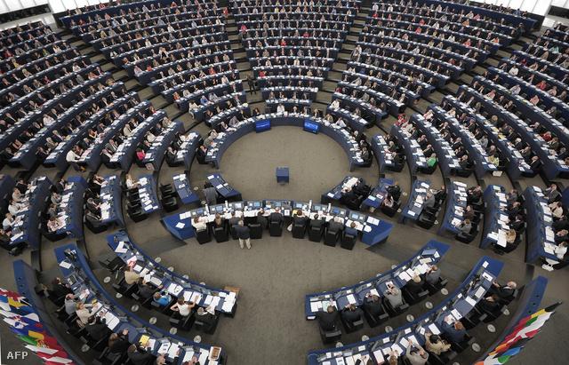 Szavazás az Európai Parlament strasbourgh-i épületében