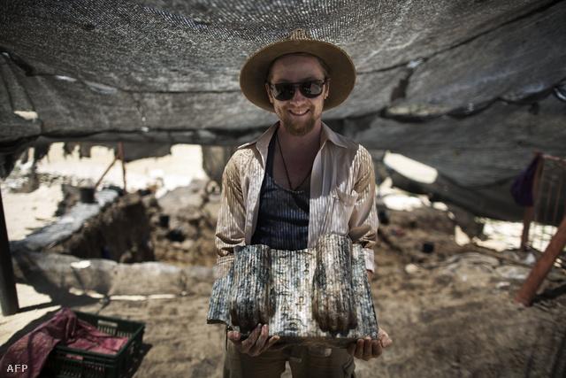 Ausztrál régészek egy szfinx darabjait találták meg Izrael északi részén