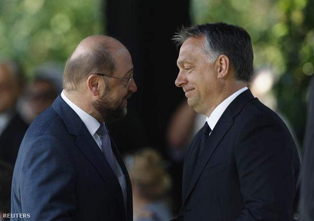 Martin Schulz az EP elnöke és Orbán Viktor