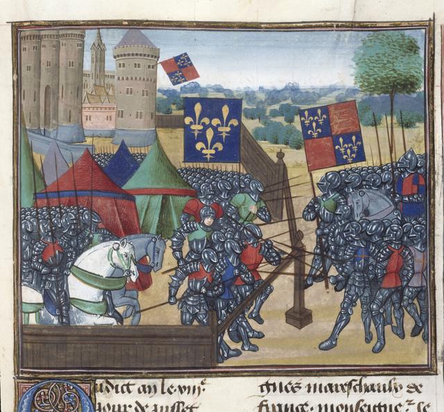 A castillioni vár ábrázolása egy középkori kódexlapon