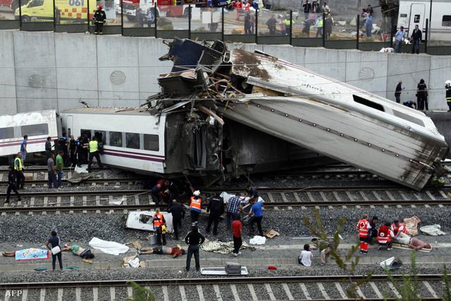 Vonatbaleset Santiago de Compostelában, július 24-én