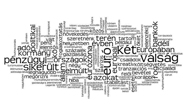 Matolcsy-interjú a Heti Válaszban 2012 tavaszán (wordle.net)