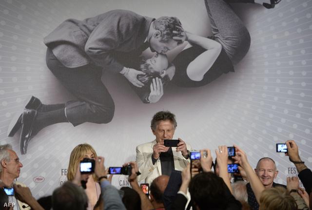Cannes-ban, a Bundás Vénusz bemutatóján, 2013. május 25-én