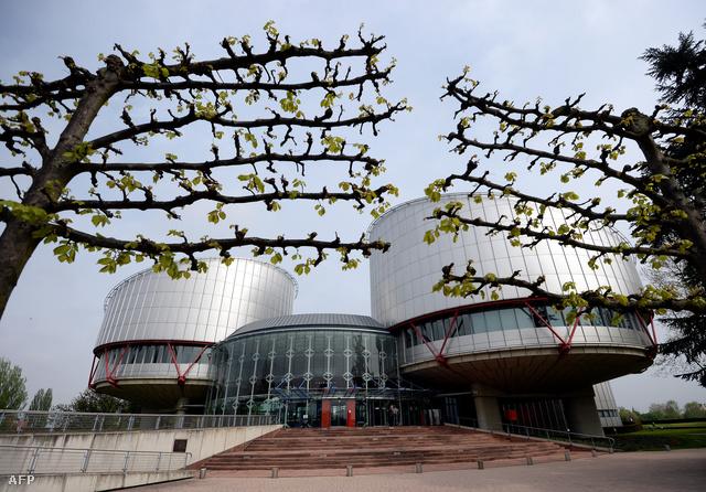 A strasbourgi bíróság épülete