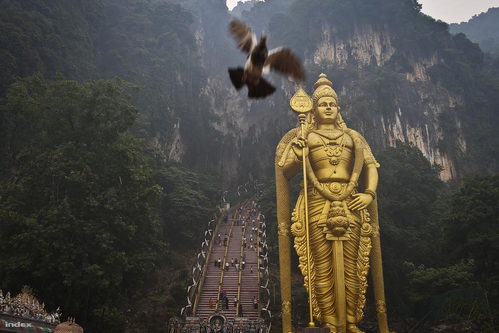Kuala Lumpurtól 13 kilométerre észak felé található a legnépszerűbb Indián kívüli                         hindu szentély egy hatalmas mészkőbarlangban – ez a Batu Caves. Már a hozzá vezető 272                          lépcsőfok is kihívás, de olyan vezeklőt is látni, aki térden tette meg a távot. A tövében egy                          42,7 méter magas hindu istenségszobor fogad, a lépcsőkön pedig vad majmok garázdálkodnak,                          akik minden mozdíthatót kilopkodnak a turisták kezéből és táskájából a fényképezőgéptől a                          vizespalackig.