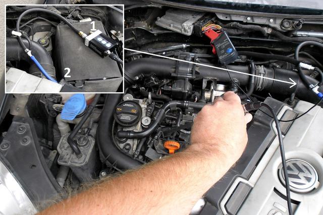 1 – WPS 500 X nyomásmérő; 2 – nyomáshullámmérő