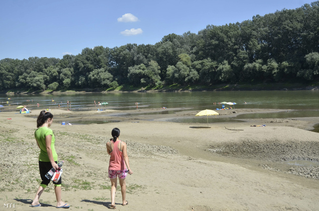 A Tisza vízállása augusztus 6-án