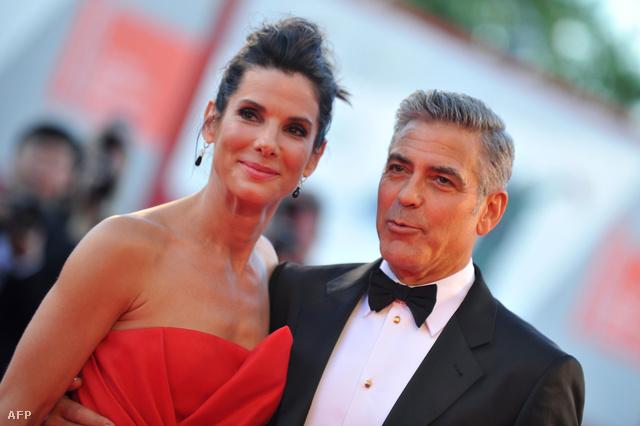 Sandra Bullock és George Clooney Velencében