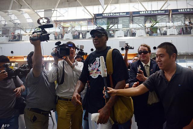 Rodman a pekingi reptéren
