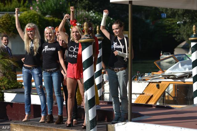 Megérkezett a Femen Velencébe