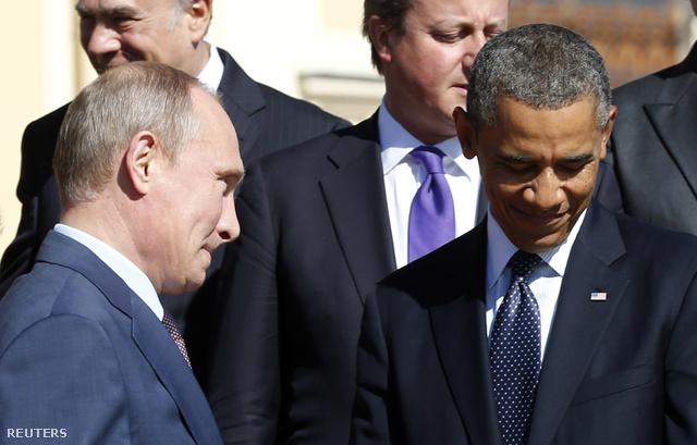 Putyin és Obama a moszkvai G20-on