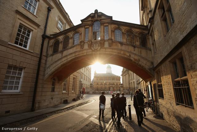 Az Oxfordi Egyetem egyik udvara