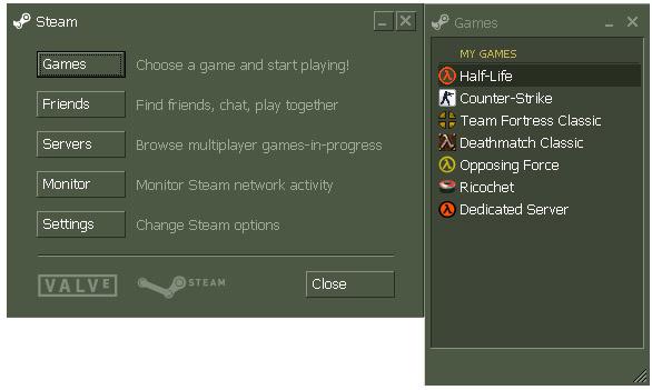 Így nézett ki a Steam felülete 2004-ben, amikor a Half-Life 2 megjelent