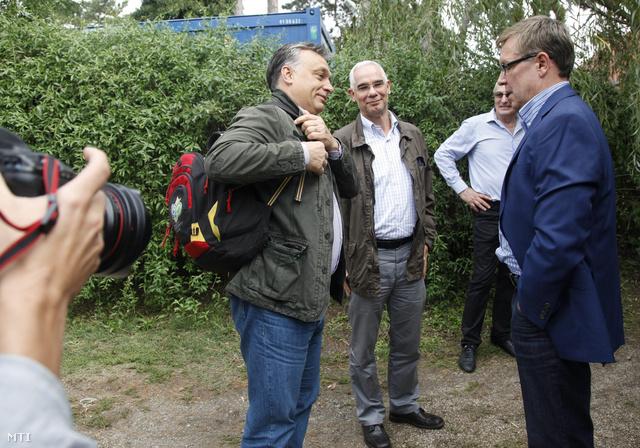 Orbán Viktor, Balogh Zoltán és Matolcsy György Kötcsén