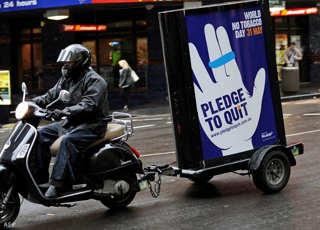 Dohányzásellenes kampány Ausztáliában