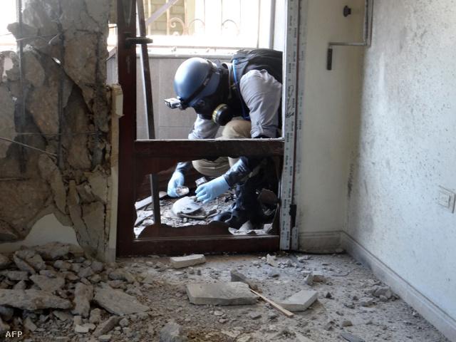 Az ENSZ vegyifegyver-szakértője Damaszkuszban